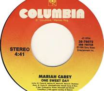 45 RPM Single One Sweet Day By Mariah Carey