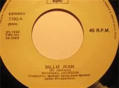 45 RPM Single Michael Jackson Billie Jean #1 7 Weeks