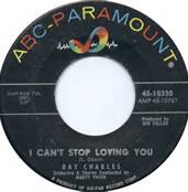 45 RPM Single Ray Charles I Can't Stop Loving You