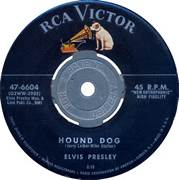 Hound Dog 45 RPM Record on RCA Victor Label