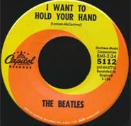 45 RPM Record I Want To Hold Your Hand By The Beatles