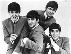 Black And White Group Photo of the Beatles