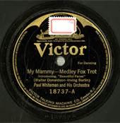 Paul Whiteman My Mammy Record Victor Label