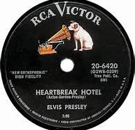 1956 Heartbreak Hotel RCA Victor Record Label