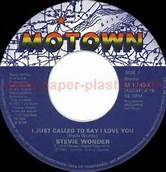 I Just Called To Say I Love You 45 Single Motown Label Stevie Wonder