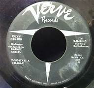 Im Walking 45 RPM Single By Ricky Nelson First Hit