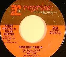 Somethin Stupid Frank and Nancy Sinatra Reprise Label 45