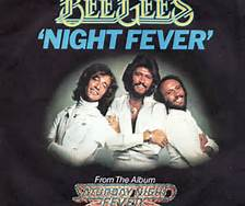 Bee Gees Night Fever Cover Album Photo