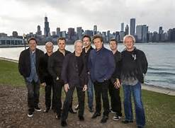 Chicago Band Group Photo Along Chicago Skyline