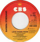 Love Theme From A Star Is Born-Evergreen 45 RPM By Barbra Streisand