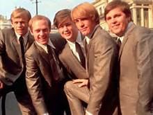 Group Color Photo of The Beach Boys In Suits