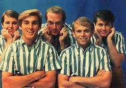 Group Photo in Color of The Beach Boys In Casual Shirts