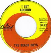 I Get Around 45 By The Beach Boys on Capitol Records #1 for Two Weeks