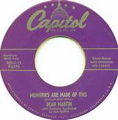 Memories Are Made Of This 45 RPM By Dean Martin on Capitol Label