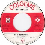 I'm A Believer 45 Record By The Monkees #1 Song For 1966