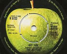 Hey Jude 45 on Apple Label by the Beatles 1968