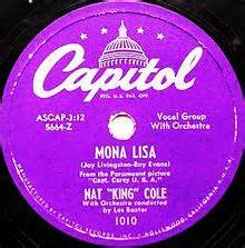 Mona List No. 1 Song Eight Weeks By Nat King Cole Capitol Records Label 78