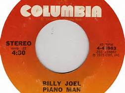 Piano Man Billy Joel 45 RPM Record Columbia Label
