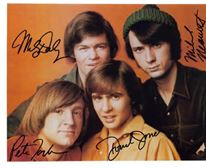 The Monkees Group Color Picture Signed