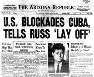 U.S. Blockades Cuba Newspaper Headline